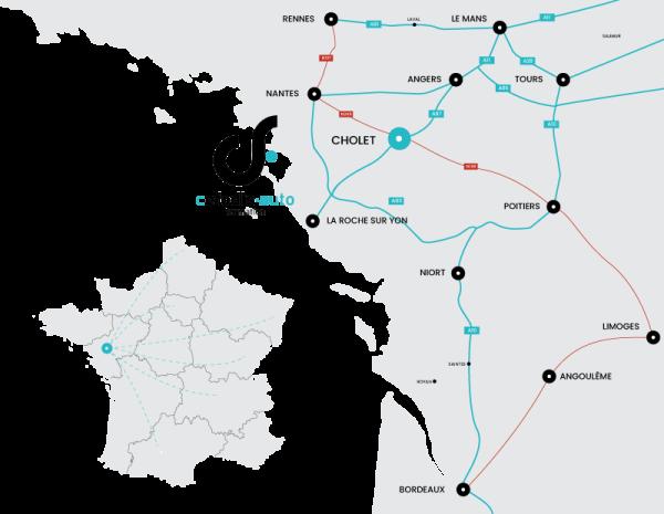 Plan d'accès CEFODIS AUTO